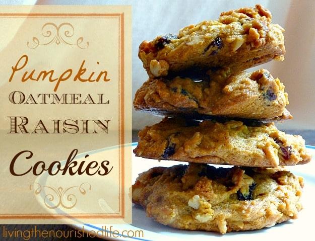 Pumpkin Oatmeal Raisin Cookies Recipe | The Nourished Life