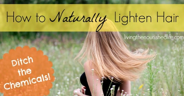How to naturally lighten hair the nourished life how to naturally lighten hair pmusecretfo Gallery