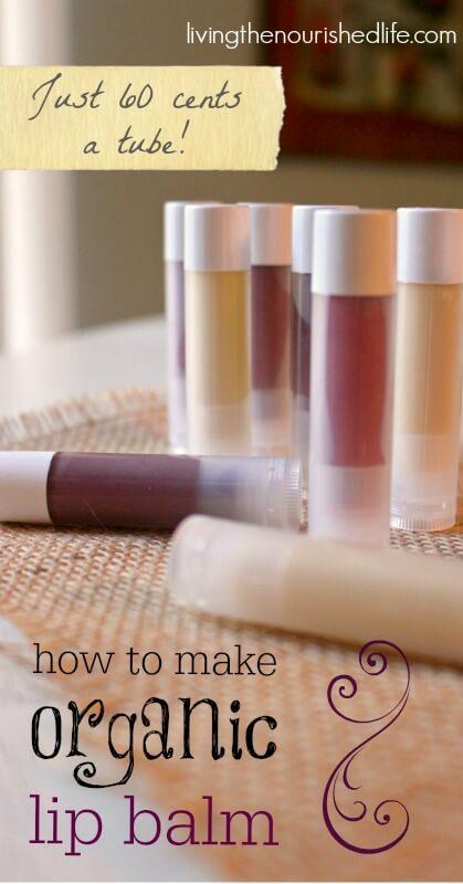 How to Make Lip Balm Recipe from-livingthenourishedlife.com