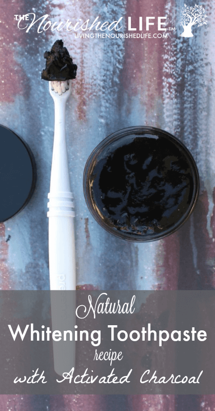 Natural Whitening Toothpaste Recipe with Activated Charcoal