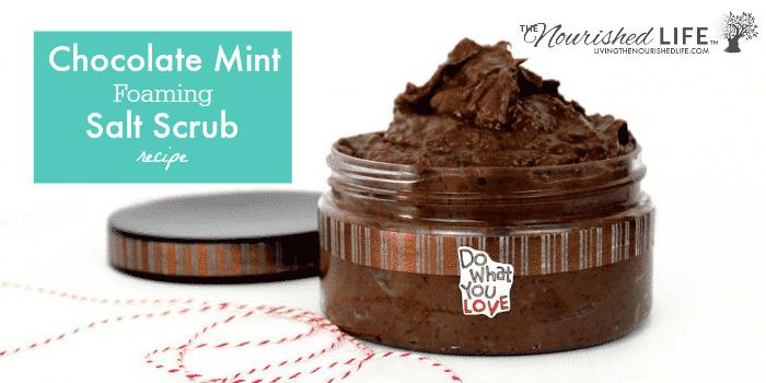Chocolate Mint Foaming Salt Scrub Recipe