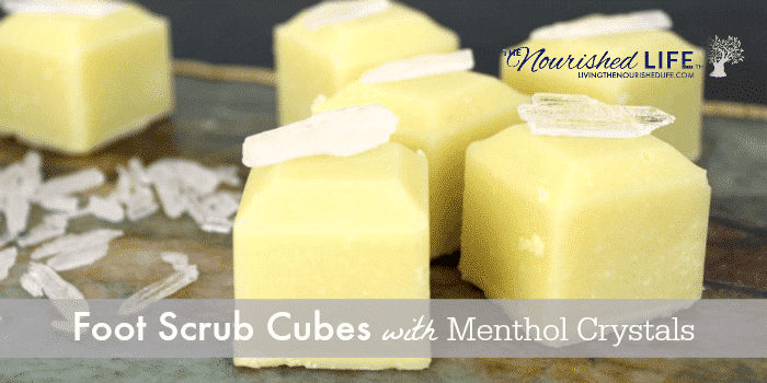 Foot Scrub Cubes with Menthol Crystals