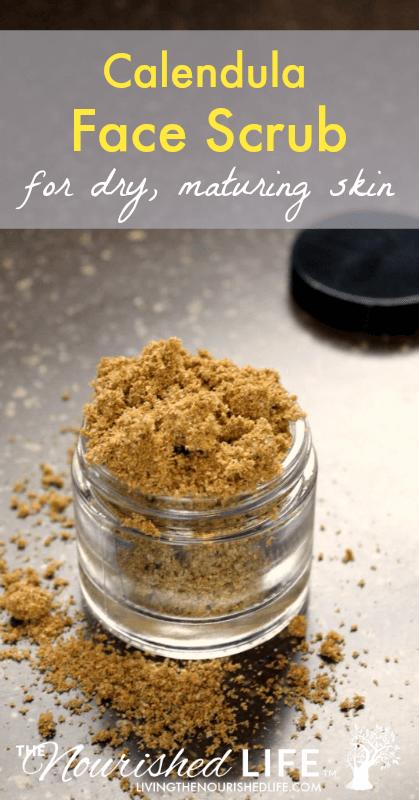 Calendula Face Scrub for Dry, Maturing Skin